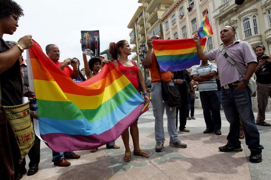 Homoseksualų teisių gynėjai Havanoje
