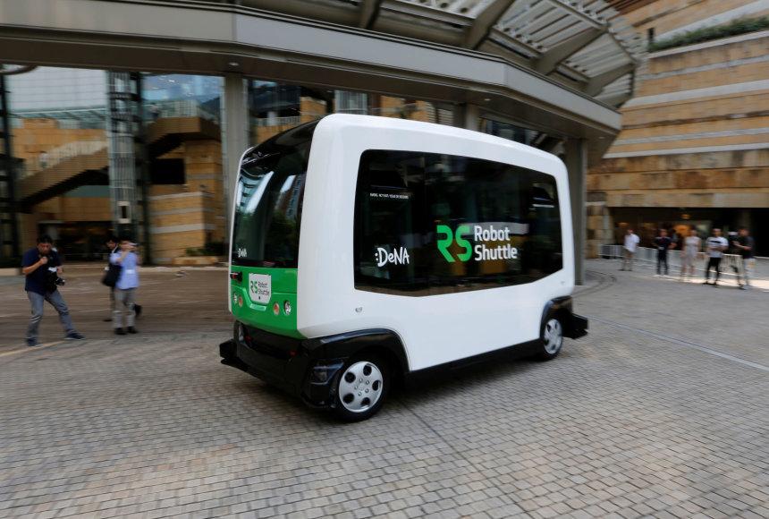 Robotizuotas autobusiukas Japonijoje