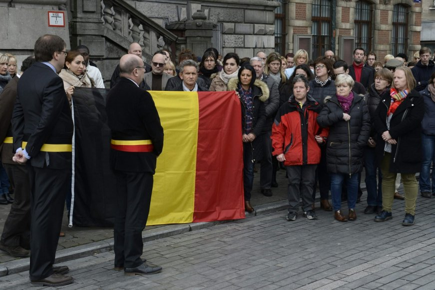 Belgija pagerbė tylos minute sprogdinimų Briuselyje aukas