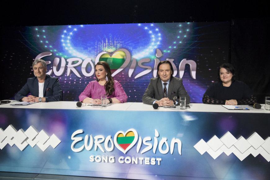 """""""Eurovizijos"""" atrankos filmavimo akimirka"""