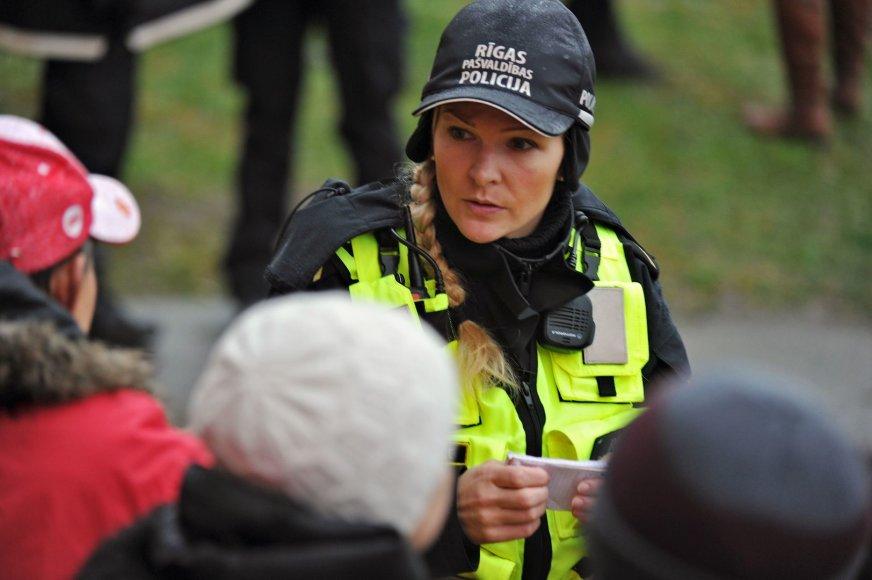 Latvijos policininkė
