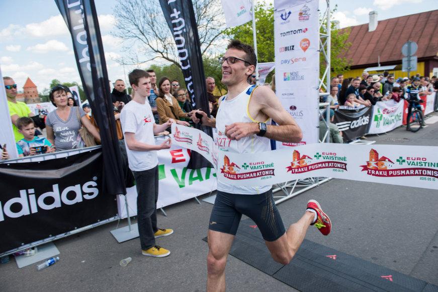 Pusės maratono bėgimas Trakuose