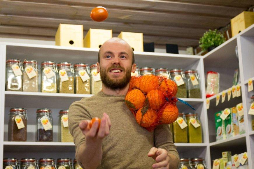 Sulčių bei sveiko maisto baro savininkas Donatas Gimbutas