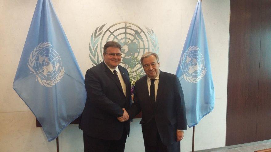 Linas Linkevičius ir Antonio Guterreso
