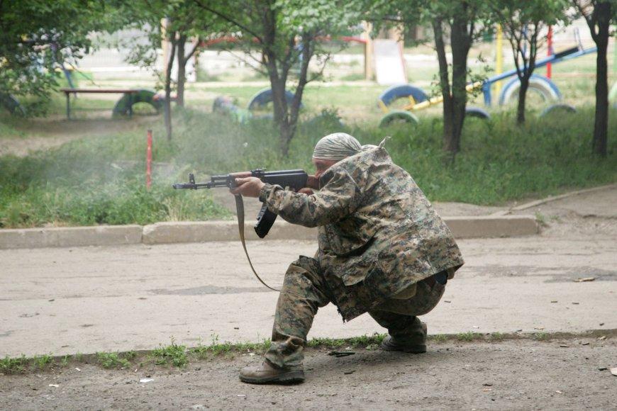Prorusiškas teroristai Luhanske