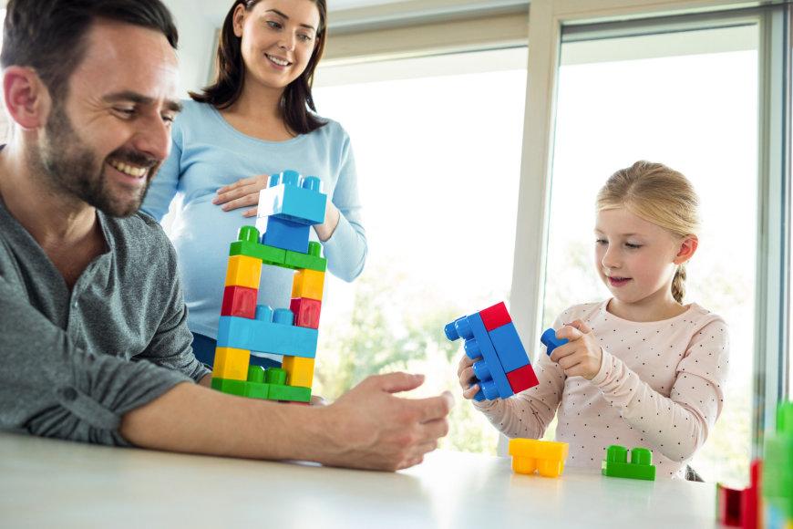 Šeima žaidžia