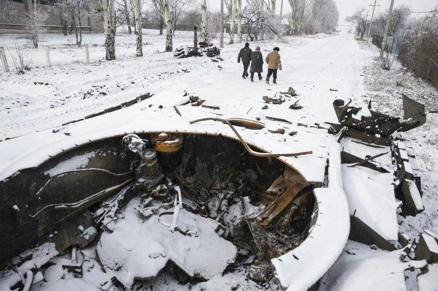 Sunaikintas tankas