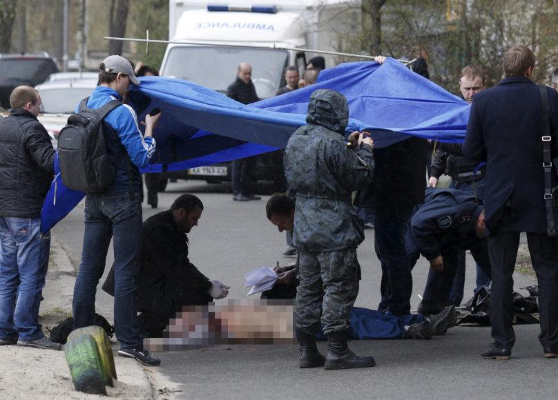 Kijeve nužudytas žurnalistas Olesis Buzinas