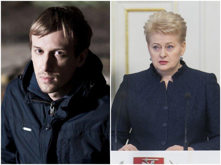 Marijus Adomaitis ir Dalia Grybauskaitė