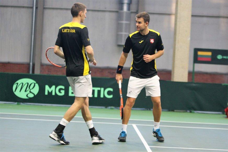 """""""Davis cup"""" turnyro mačas: Lietuva-Madagaskaras, dvejetų susitikimas"""