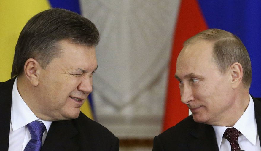 Ukrainos prezidentas Viktoras Janukovyčius ir Rusijos prezidentas Vladimiras Putinas