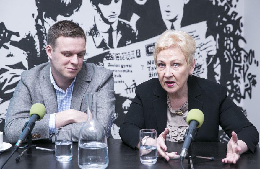 Irena Degutienė ir Gabrielius Landsbergis