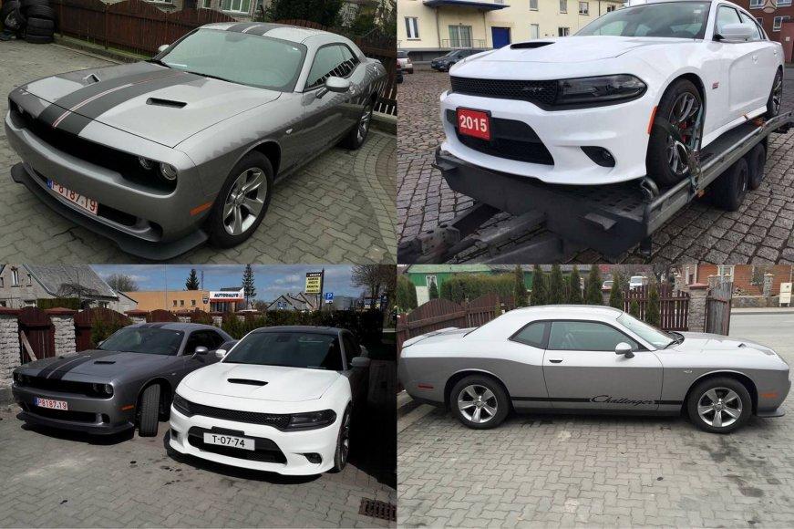 """Iš automobilių meistro kiemo Kretingoje pavogti """"Dodge"""" automobiliai"""