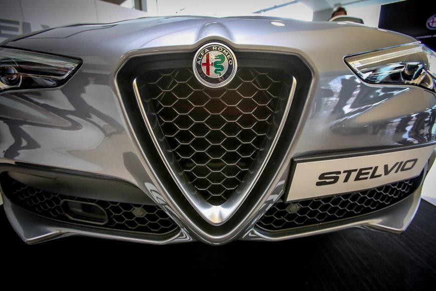 """""""Alfa romeo"""" naujo automobilio pristatymas"""