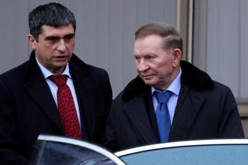 Derybų raundas Minske dėl taikos rytų Ukrainoje: Leonidas Kučma 2015 m. sausio 31 d.