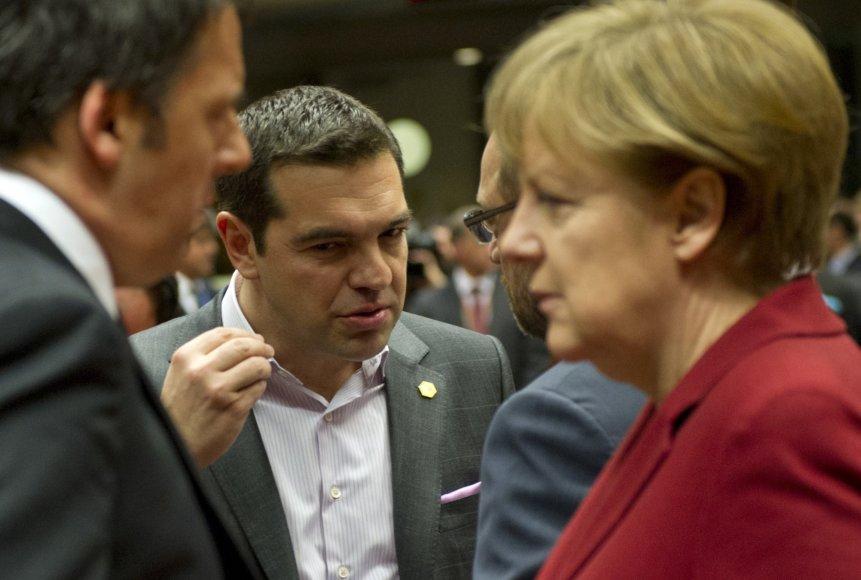 Graikijos premjeras Aleksis Cipras susitinka su Vokietijos kanclere Angela Merkel.