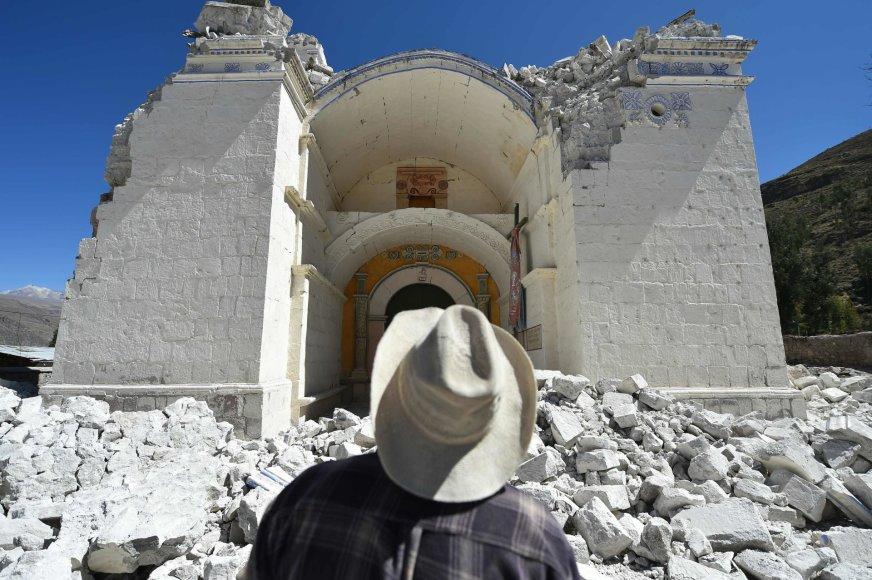 Peru įvyko dar vienas žemės drebėjimas