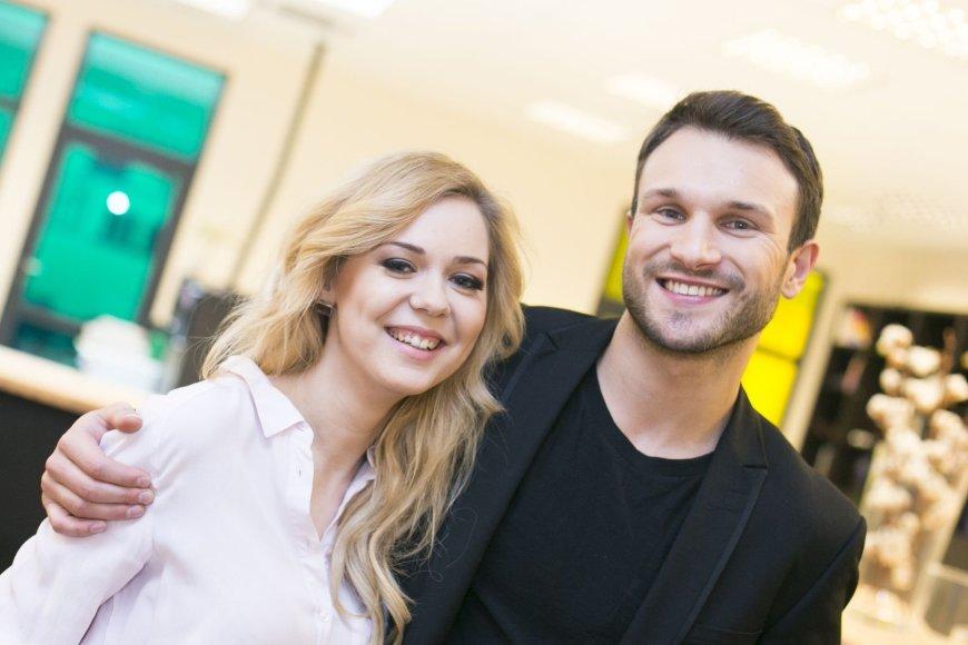 Vaidas Baumila ir Monika Linkytė Žmonės.lt redakcijoje