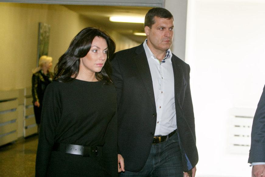 Arūnas Pukelis su žmona