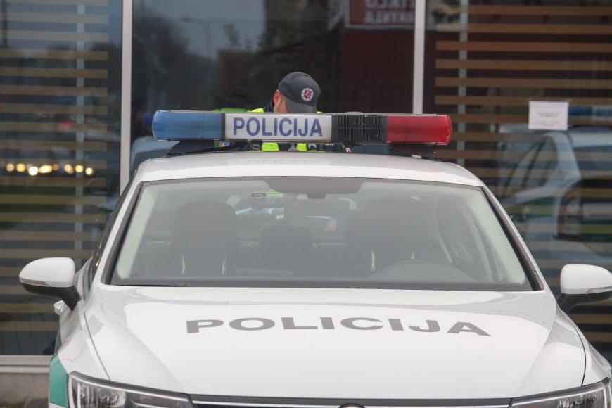 Policijos reidas Kauno Europos pr.