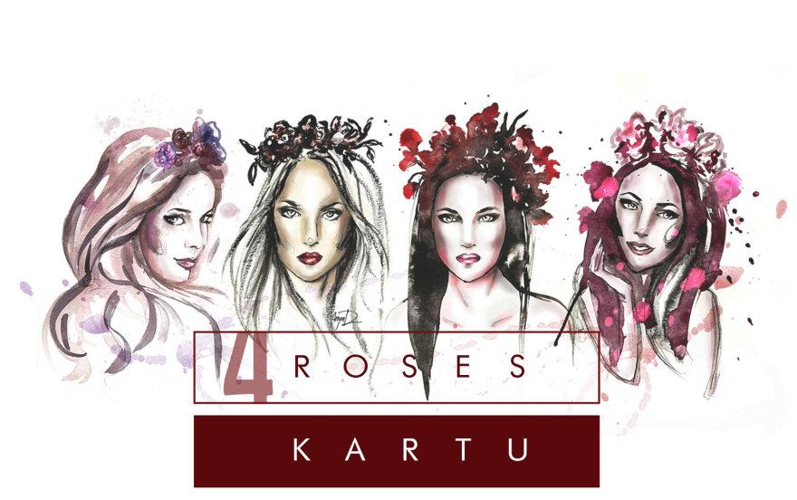 """Mados iliustratorė Anya Dee įamžino """"4 Roses"""" merginas"""