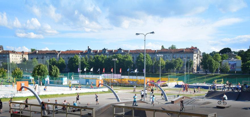 Sporto zona prie Baltojo tilto.