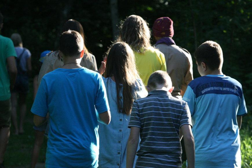 Donecko pabėgėlių vaikai stovyklauja Lietuvoje