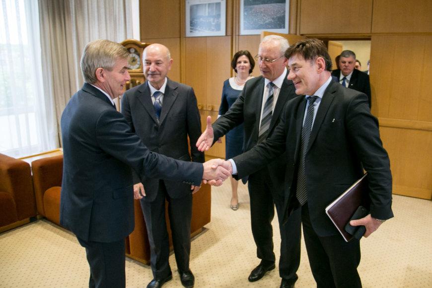 Viktoras Pranckietis, Algirdas Gaižutis, Antanas Maziliauskas ir Juozas Augutis