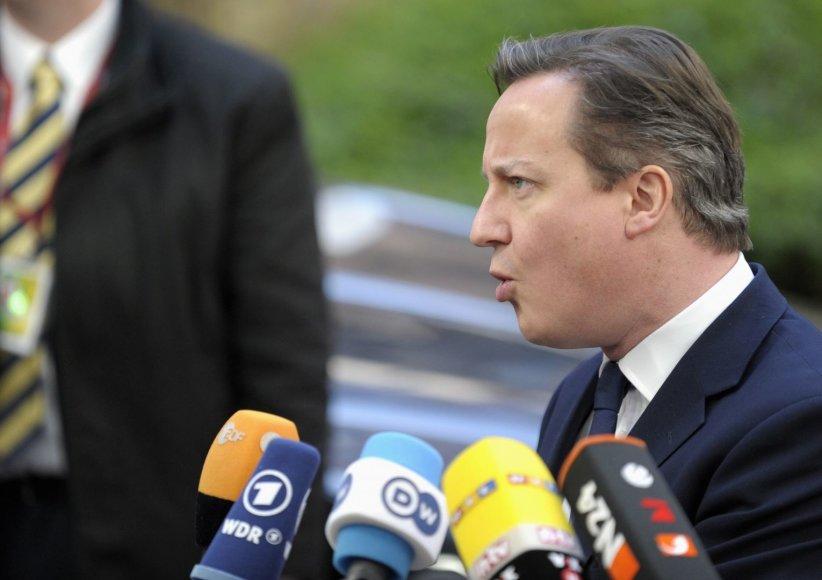 Didžiosios Britanijos ministras pirmininkas Davidas Cameronas
