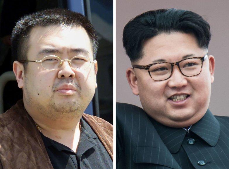 Kim Jong Namas ir Kim Jong Unas