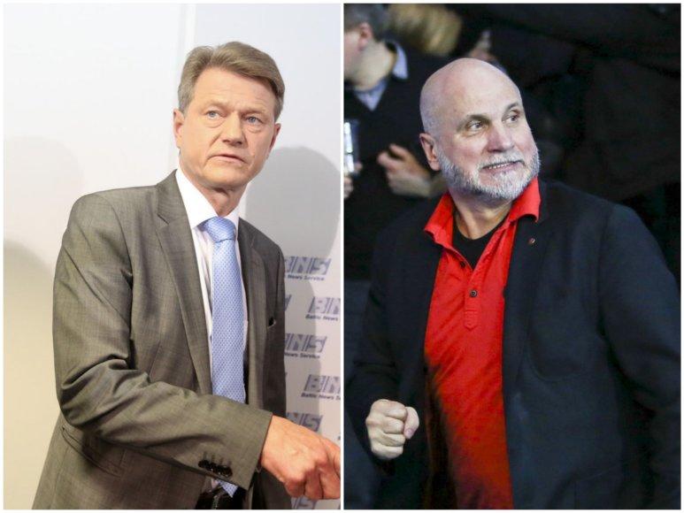 Rolandas Paksas ir Gedvydas Vainauskas