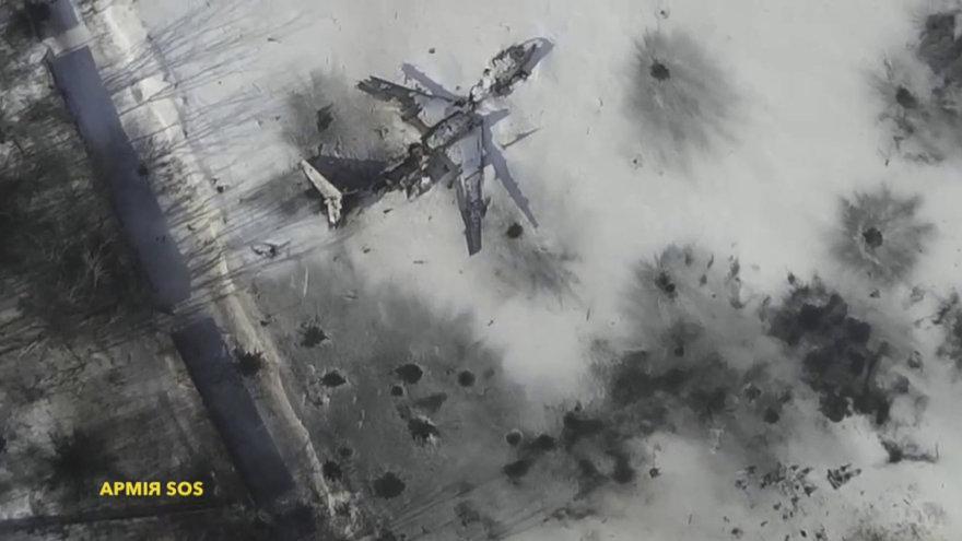 Suniokotas Donecko oro uostas iš viršaus