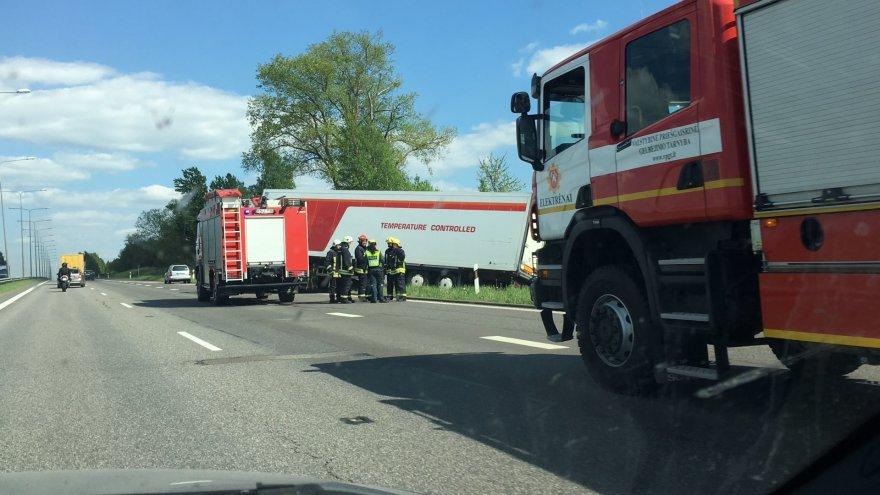 Nelaimė greitkelyje Kaunas-Vilnius