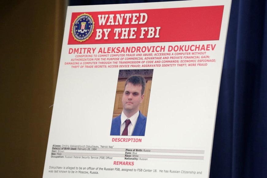 Dmitrijus Dokučiajevas – Rusijos FSB darbuotojas, kurio paiešką dėl kibernetinių įsilaužimų paskelbė amerikiečių FTB