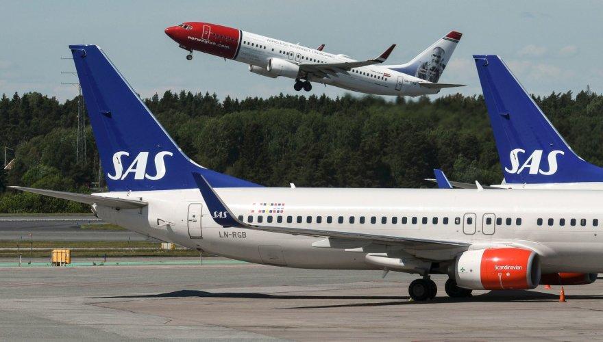 SAS lėktuvai