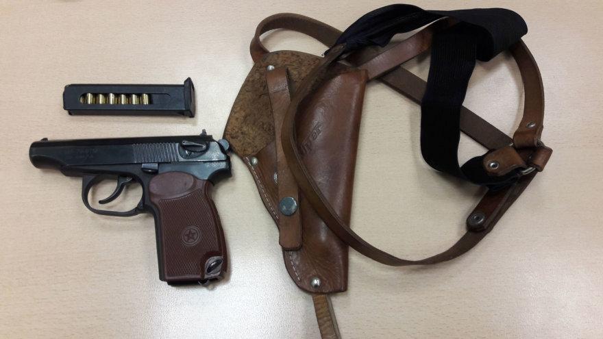 Sulaikytas pistoletas