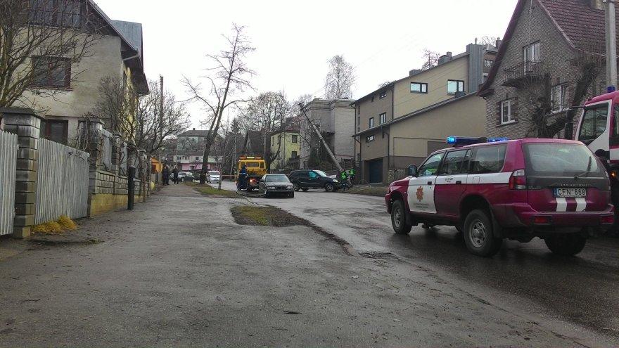 Avarija Kalpoko gatvėje Kaune