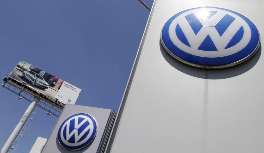"""""""Volkswagen"""" automobilių gamykla Meksikos Pueblos mieste"""