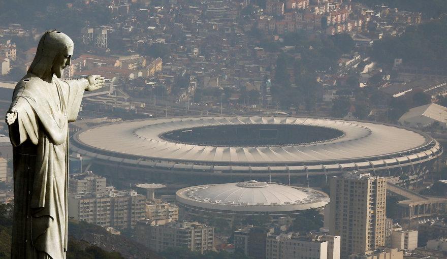 Marakanos stadionas Rio de Žaneire.