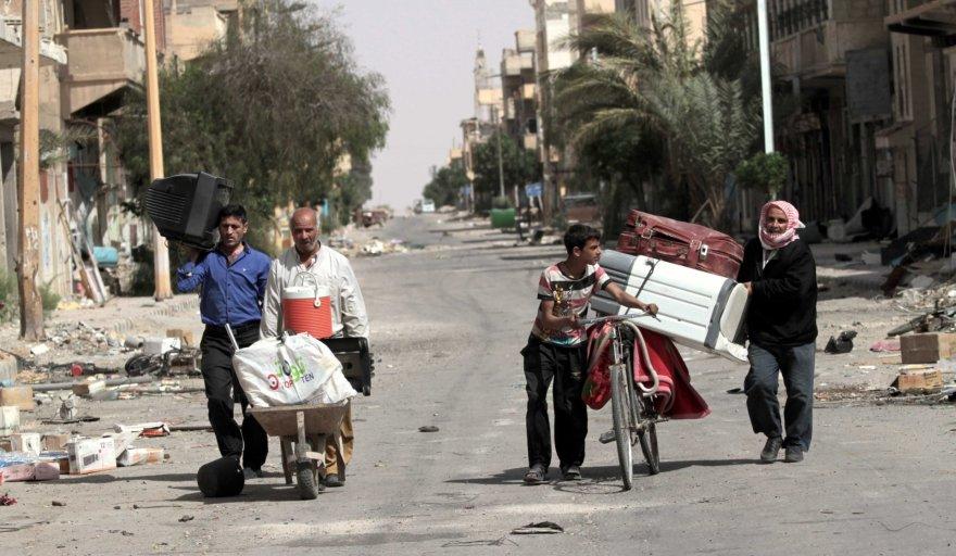 Gyventojai grįžta į Palmyrą