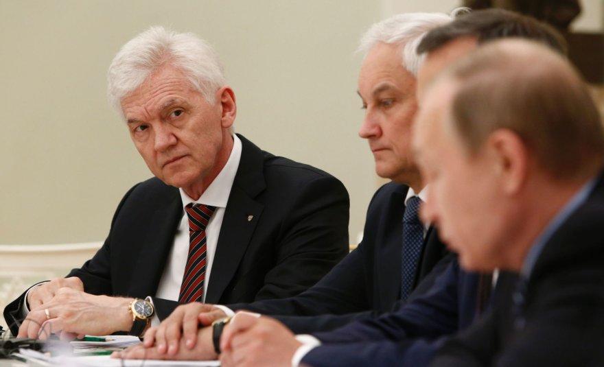Genadijus Timčenka verslininkų susitikime su Vladimiru Putinu