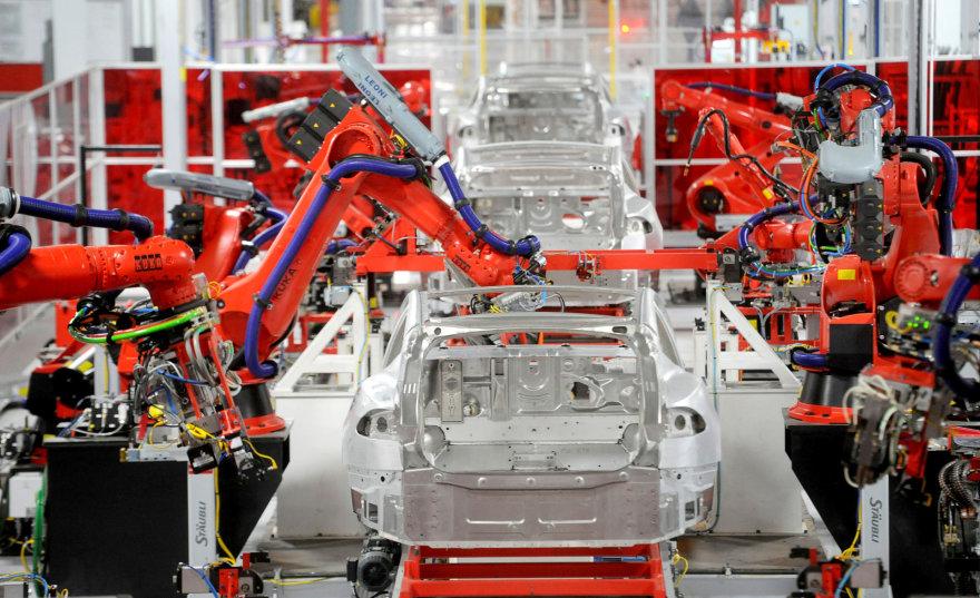 """Tesla"" gamykla Kalifornijoje"