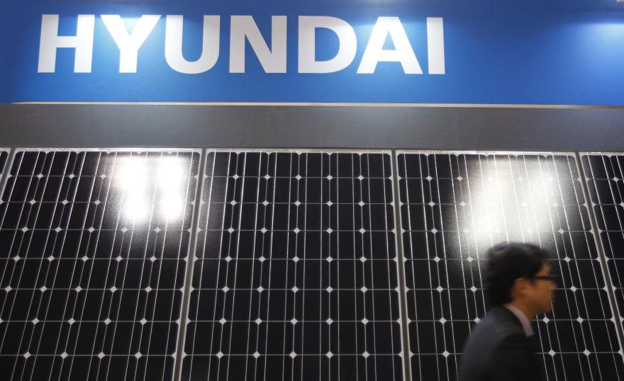 """""""Hyundai Heavy Industries"""" stendas parodoje Tokijuje"""
