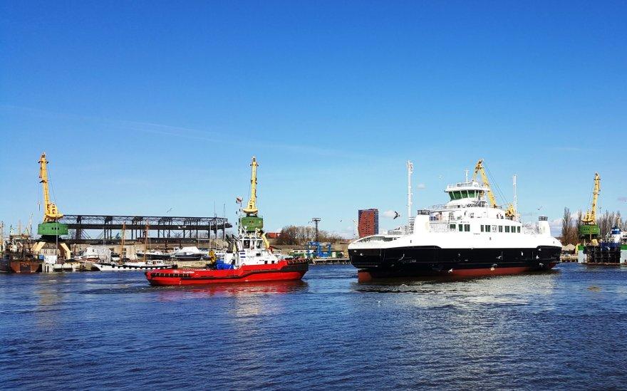 Naujasis keltas, pastatytas Klaipėdoje, jau nuleistas į vandenį.