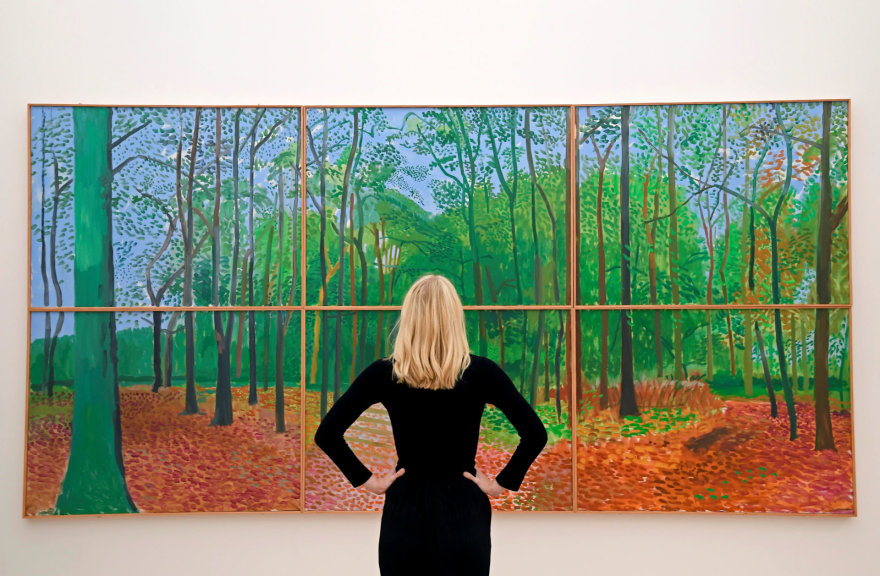"Davido Hockney ""Woldgate Woods"""