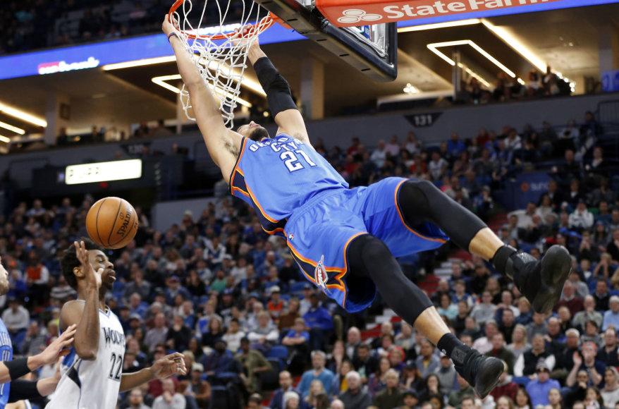 """NBA rungtynės: """"Thunder"""" – """"Timberwolves"""""""