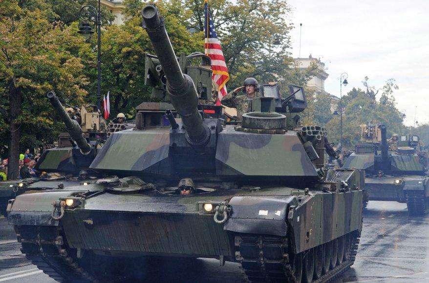 Amerikiečių tankai Lenkijoje
