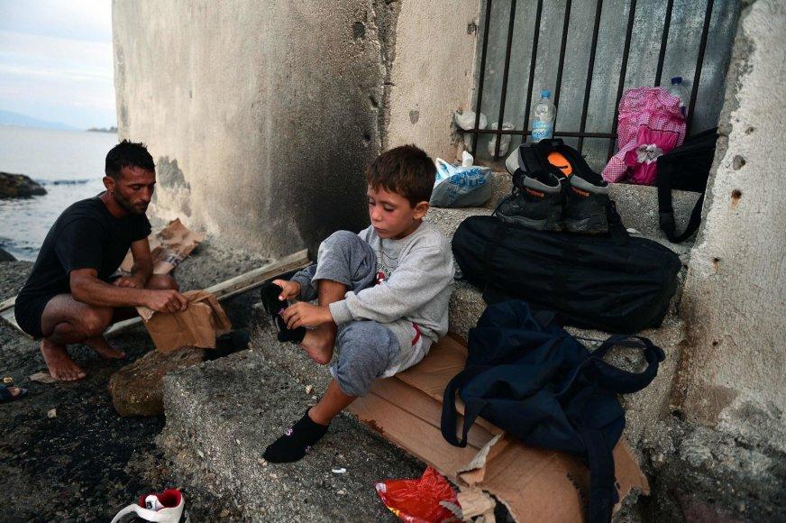Sirijos pabėgėlis Lesbos saloje