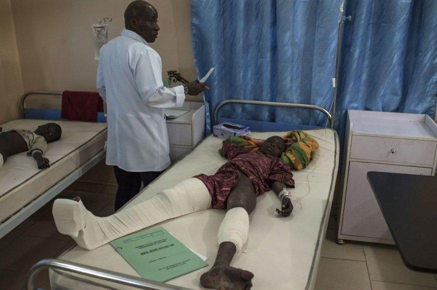 Sužeistieji Nigerijos ligoninėje