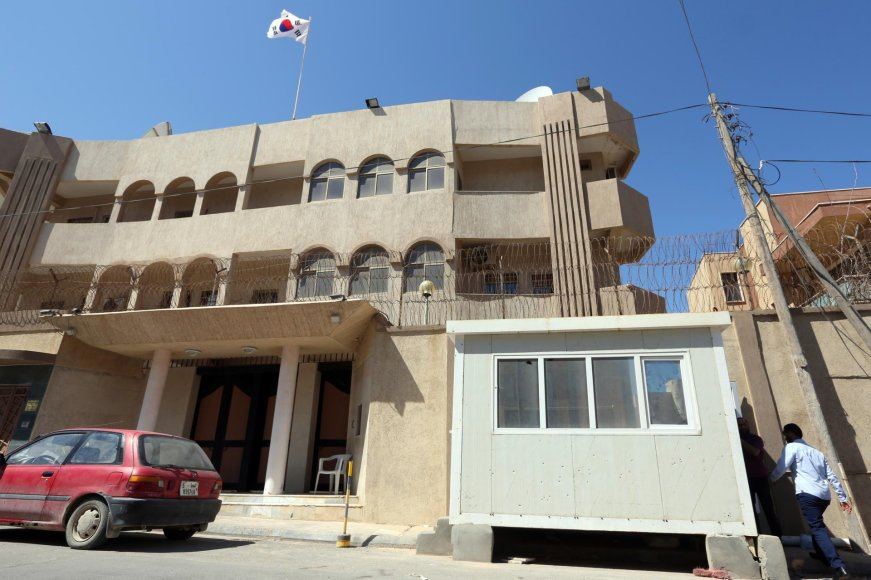 Libijoje įvykdyta ataka prieš Pietų Korėjos ambasadą.